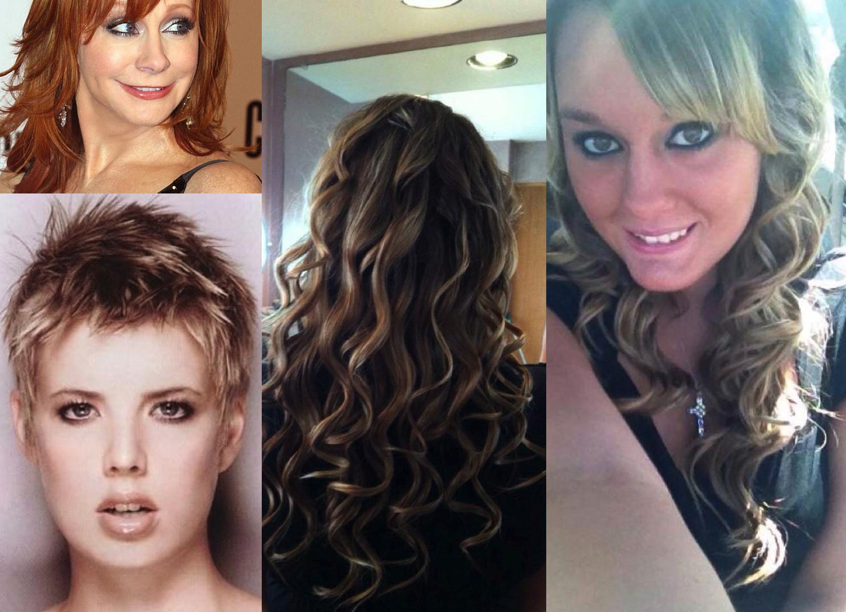 Mermaid Curls, Short Ladies' Styles and Men's Color